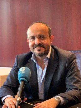 El líder del PP en Catalunya, Alejandro Fernández