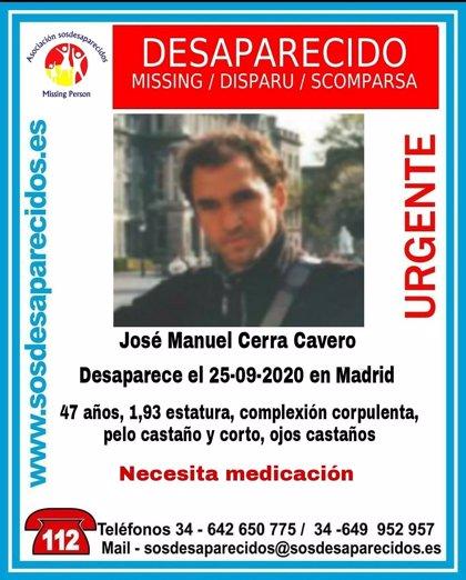 Buscan a un hombre de 47 años que necesita medicación desaparecido desde el domingo en Madrid