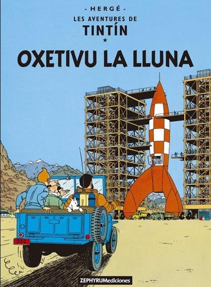 Los álbumes de Tintín 'Objetivo la luna' y 'Caminando por la luna' se publican en asturiano
