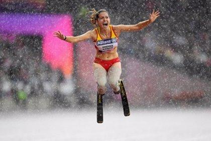 Sara Andrés bate el récord de España de salto de longitud en el 'Paralympic Meeting' de L'Hospitalet
