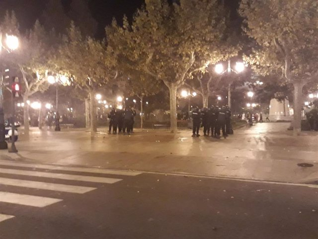 Disturbios en El Espolón logroñés