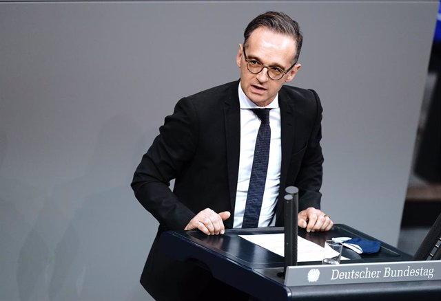 30 October 2020, Berlin: German Foreign Minister Heiko Maas speaks during a plenary session at the German Bundestag. Photo: Kay Nietfeld/dpa