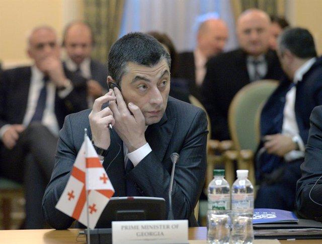 El primer ministro de Georgia, Giorgi Gajaria