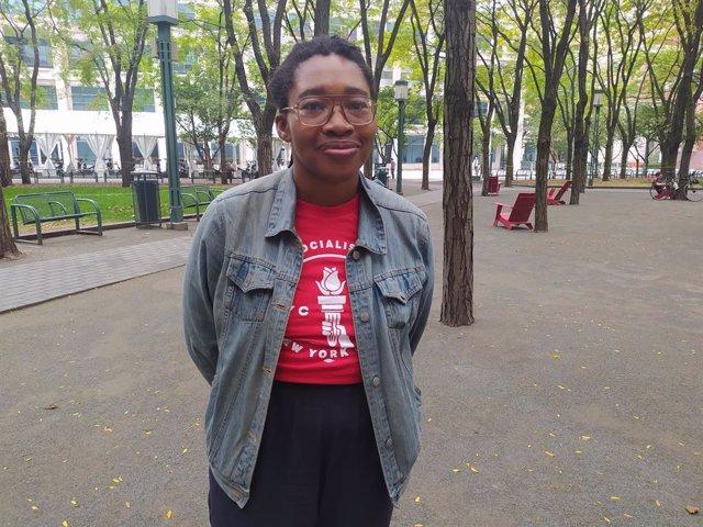 Chi Anunwa, copresidenta de la rama neoyorquina de los Socialistas Democráticos de América