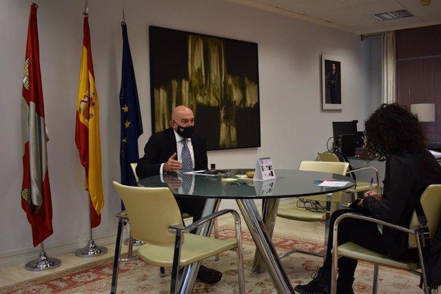 Carnero en un momento de la entrevista con la agencia Europa Press