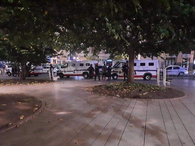 Dispositivo policial en Bilbao por la protesta convocada por negacionistas