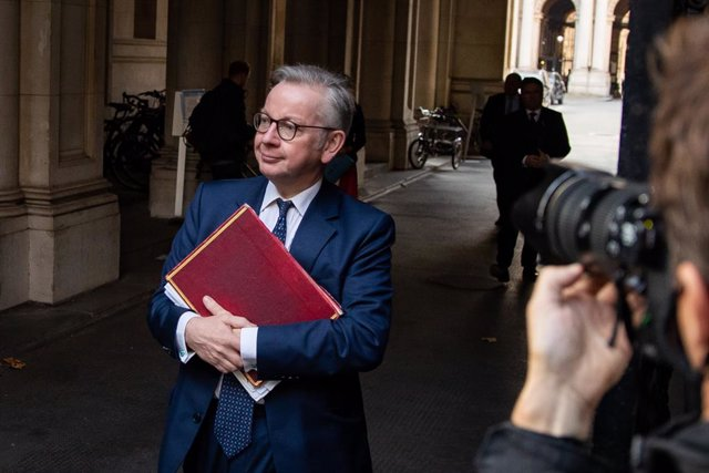 22 September 2020, England, London: Chancellor of the Duchy of Lancaster Michael Gove arrives at Downing Street ahead of a Cabinet meeting. Photo: Aaron Chown/PA Wire/dpa