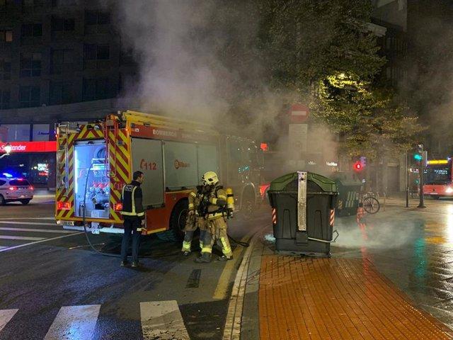 Disturbios en Bilbao el pasado viernes 30 de octubre durante una protesta de negacionistas