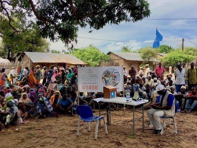 Mozambiqueños desplazados por la violencia en Cabo Delgado