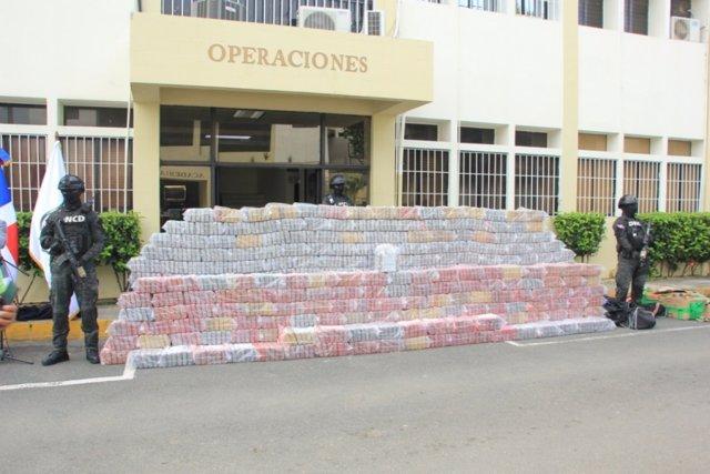 Cargamento de cocaína incautado en Santo Domingo, República Dominicana