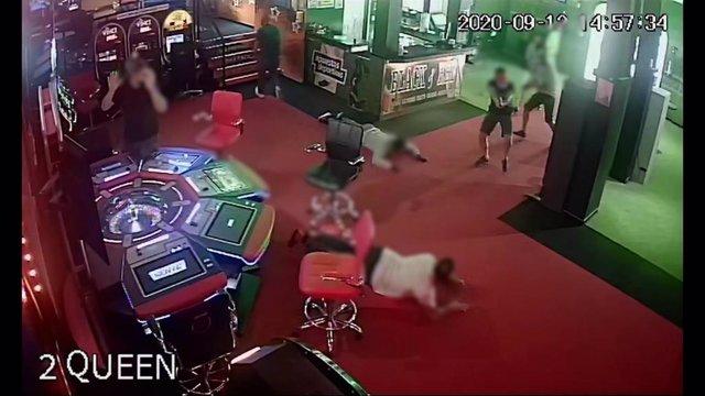 Imagen del  intento de atraco en un casino de Tenerife