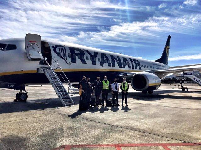 Avión de Ryanair en el aeropuerto de Málaga-Costa del Sol