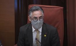El conseller d'Empresa i Coneixement de la Generalitat, Ramon Tremosa, al Parlament (Arxiu)