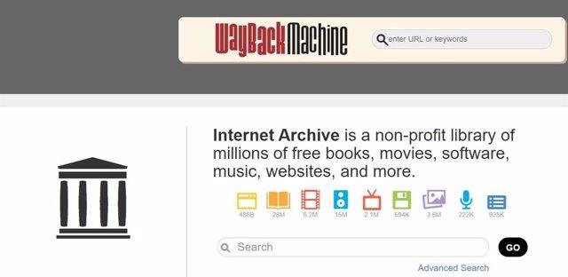 Wayback Machine, herramienta del Archivo de Internet.
