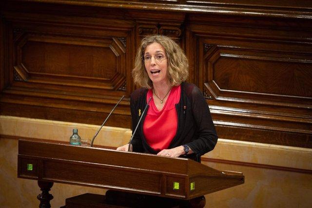 La consellera d'Empresa i Coneixement, Àngels Chacón, al Parlament. (Arxiu)