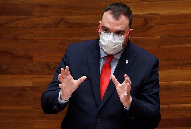 El president del Principat d'Astúries, el socialista Adrián Barbón.