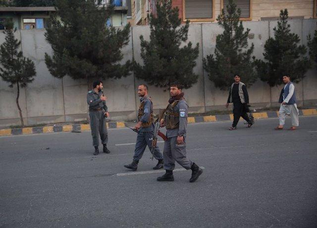 Miembros de las fuerzas de seguridad afganas en Kabul