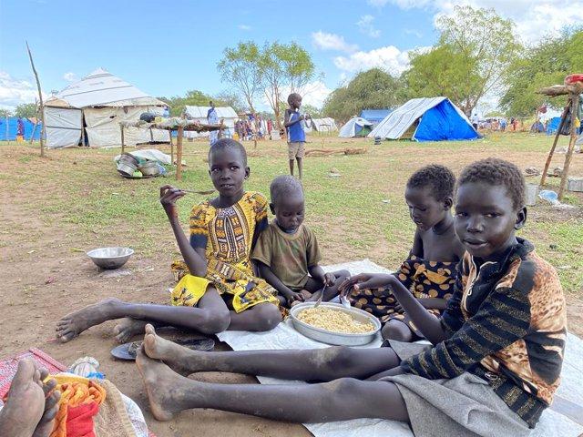 Desplazados por las inundaciones en Sudán del Sur