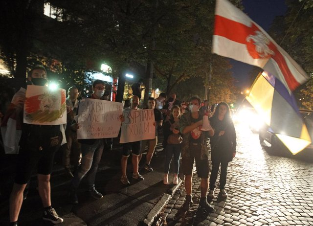 Manifestación de la oposición a Alexander Lukashenko en Minsk