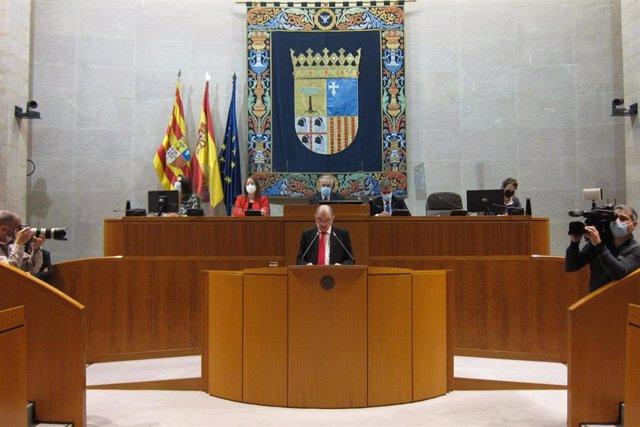 El presidente del Gobierno de Aragón, Javier Lambán, en el Debate sobre el Estado de la Comunidad.