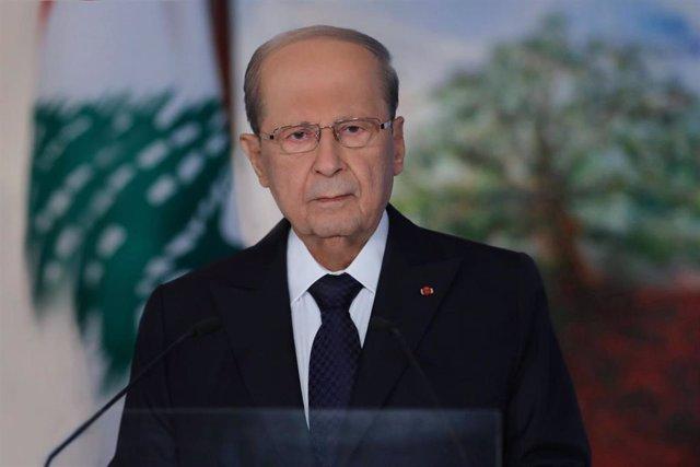 El presidente de Líbano, Michel Aoun
