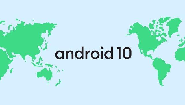 Logo de Android 10