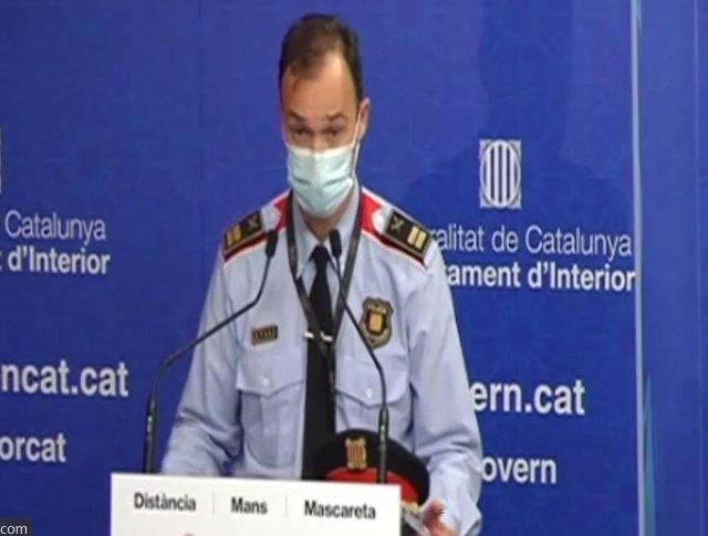 El comissari en cap dels Mossos d'Esquadra, Eduard Sallent.