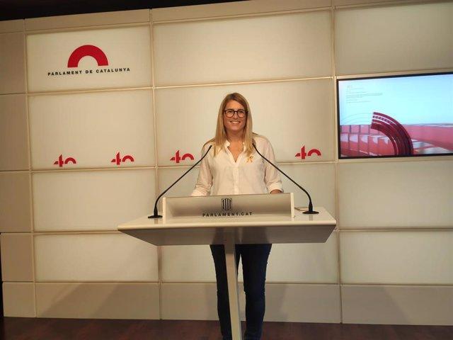 La vicepresidenta de JxCat i diputada al Parlament, Elsa Artadi