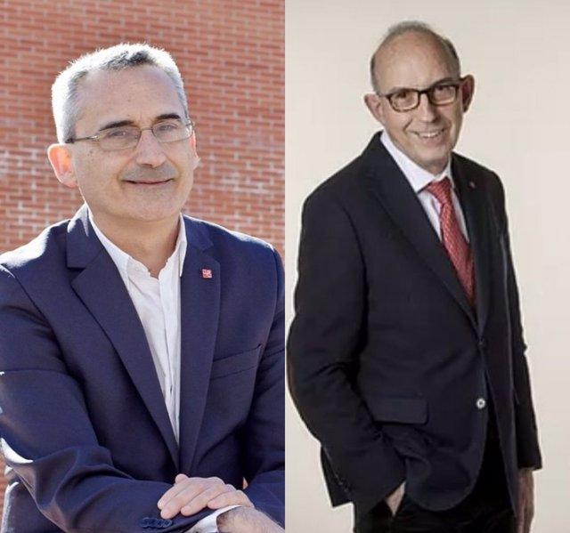 Los candidatos a rector de la UR, Julio Rubio, a la izquierda y Juan Carlos Ayala, a la derecha