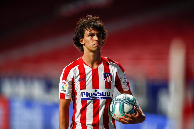 Joao Felix of Atletico Madrid looks on during the spanish league, LaLiga, football match played between Atletico de Madrid and RCD Mallorca at Wanda Metropolitano Stadium on July 03, 2020 in Madrid, Spain.