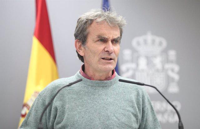 El director del Centre de Coordinació d'Alertes i Emergències Sanitàries (CCAES), Fernando Simón, compareix en roda de premsa a La Moncloa per informar sobre l'evolució de la pandèmia. Madrid (Espanya), 29 d'octubre del 2020.