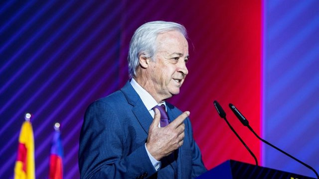 Carles Tusquets, presidente de la Comisión Gestora del FC Barcelona que deberá convocar elecciones tras la dimisión en bloque de la Junta Directiva presidida por Josep Maria Bartomeu