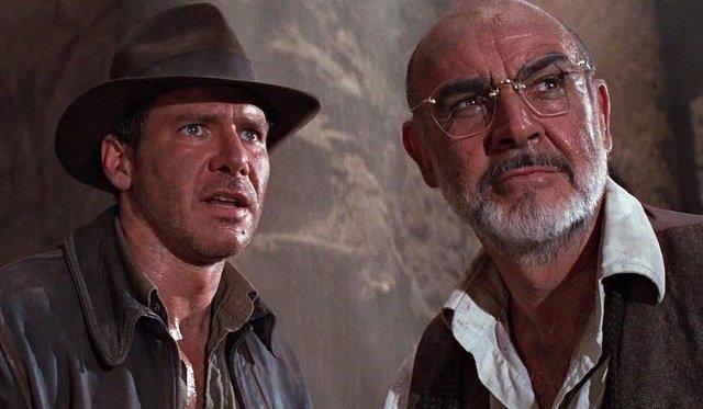 Harrison Ford se despide de Sean Connery, su padre en Indiana Jones