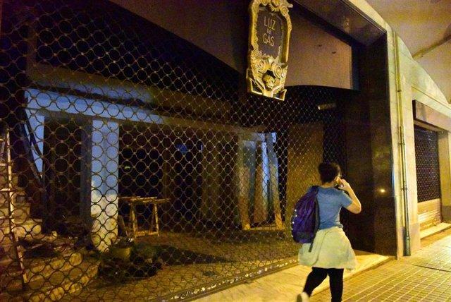 Una discoteca cerrada en Barcelona, Catalunya (España)