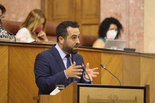 El portavoz adjunto de Ciudadanos (Cs) en el Parlamento andaluz, Fran Carrillo, en una foto de archivo.