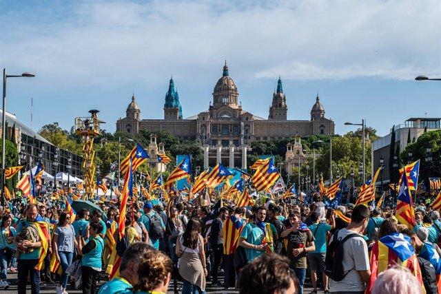 Manifestació que va convocar l'ANC per la Diada de Catalunya del 2019.