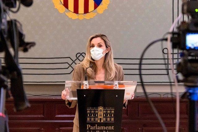 La portavoz parlamentaria adjunta de Cs, Patricia Guasp.