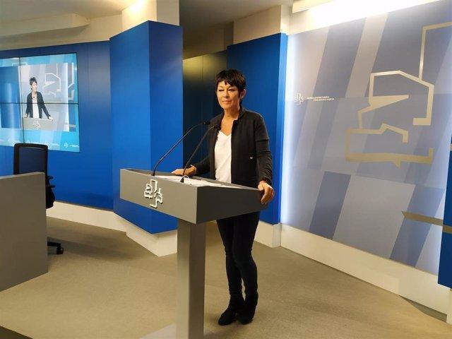 La portavoz parlamentaria de EJH Bildu en la Cámara vasca, Maddalen Iriarte