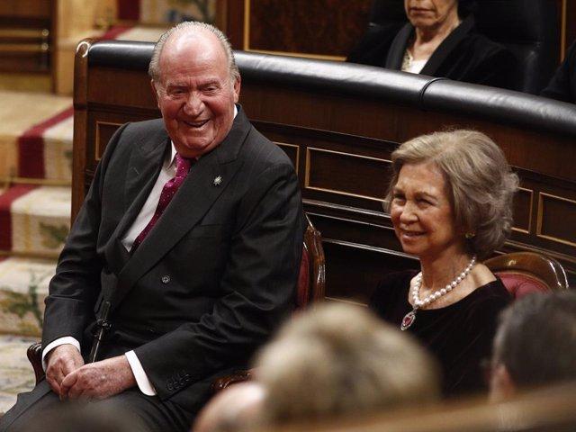 El rei Joan Carles I i la reina Sofia.