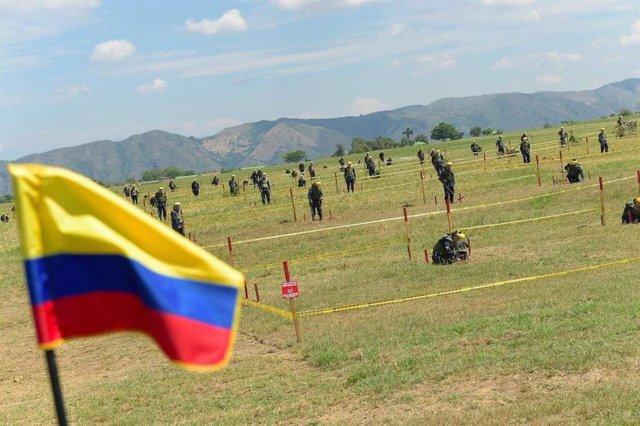 Imagen de archivo de tareas de desminado en Colombia.