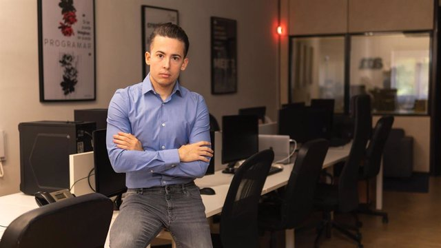 Enrique Espinosa en una de sus empresas
