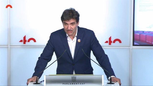 El presidente de ERC en el Parlament, Sergi Sabrià.