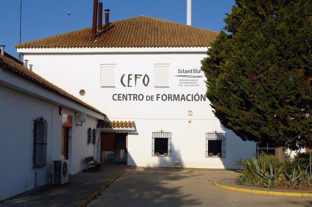 Fachada de las instalaciones del Centro de Formación-CEFO de Islantilla (Huelva).