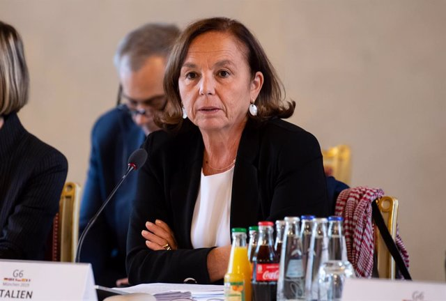 FILED - 28 October 2019, Munich: Luciana Lamorgese, Italian Minister of Interior, attends the G6 meeting of Interior Ministers. Italy is considering legalizing the status of undocumented migrants as part of efforts to fill labour shortages in agriculture,