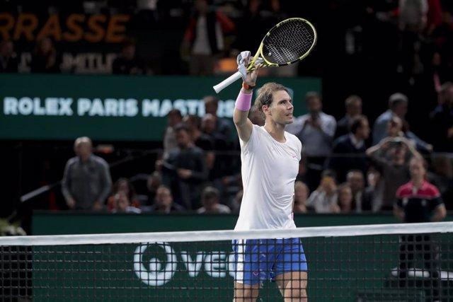 Rafael Nadal celebra una de sus victorias en el Masters 1.000 de París de 2019