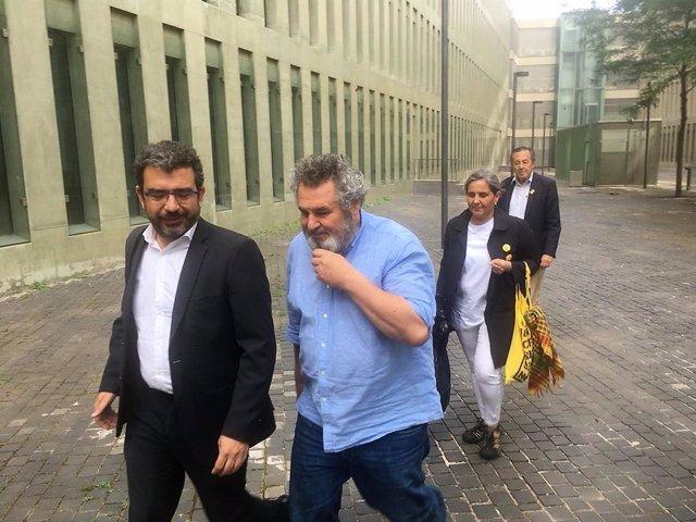 Víctor Terradellas en llibertat amb càrrecs després d'acollir-se al seu dret a no declarar en el Jutjat d'Instrucció 1 de Barcelona, que investiga el presumpte desviament de subvencions de la Diputació de Barcelona (ARXIU)