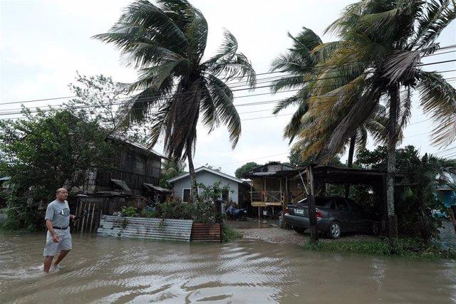 Imagen de inundaciones en Honduras.