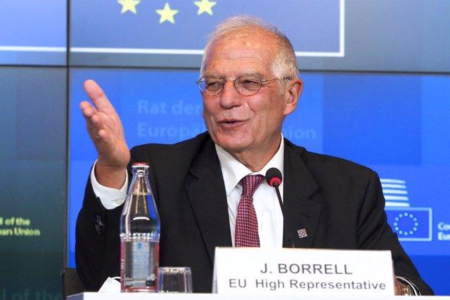 Josep Borrell en una comparecencia en Luxemburgo