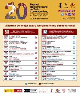 Programación Festival Iberoamericano Almagro