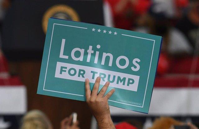 Cartel de apoyo a Trump en Jacksonville, Florida